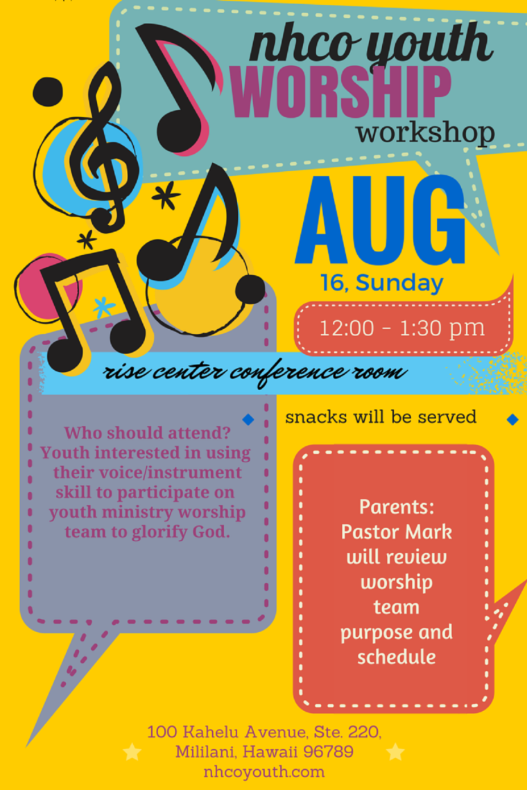Youth Worship Workshop