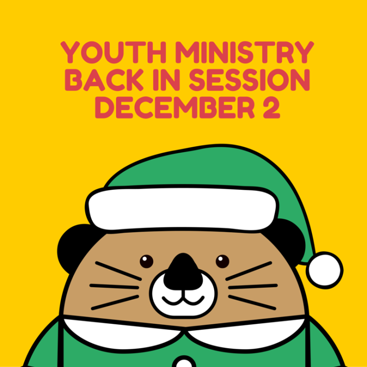 youth ministry back in sessionDecember 2