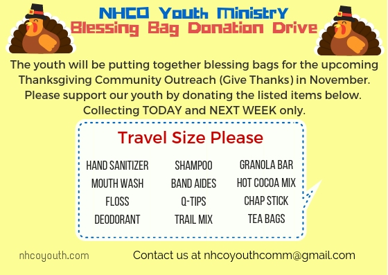 NHCO Youth MinistryBlessing Bag Donation Drive (1)